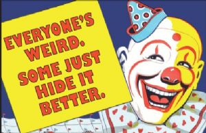 Everyone's Weird, Some Just Hide It Better... funny fridge magnet (ep)